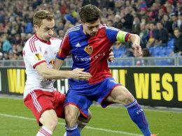 Ein enges Duell gab es in Basel zwischen dem FC und Salzburg.