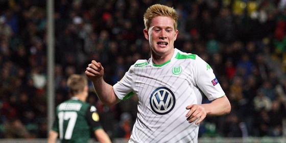 Der zweite Streich: Wolfsburgs Kevin De Bruyne bejubelt seinen Treffer zum 4:1.