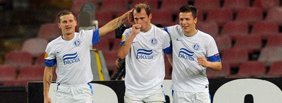 Hatten gegen Neapel 2012 allen Grund zur Freude: Dnipro siegte gegen den Favoriten mit 3:1.