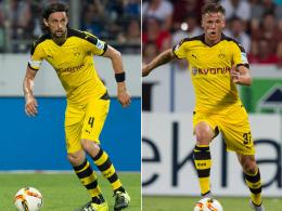 Fallen für die Europa-League-Qualifikation des BVB aus: Neven Subotic (li.) und Erik Durm.