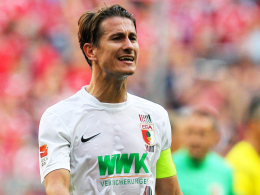 """""""Wir haben schon gezeigt, dass wir gegen gute Gegner gut aussehen können"""": Augsburgs Kapitän Paul Verhaegh."""