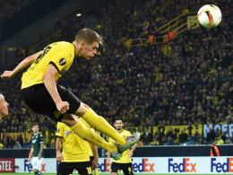 Offensiv stark, defensiv mit Wacklern: Dortmunds Matthias Ginter trifft hier zum 1:1.