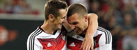 Weltmeister: 2014 feierten Klose und Podolski zusammen ihren größten Erfolg.