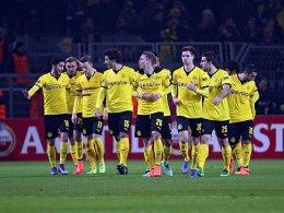 Eine Mannschaft, ein Ziel: Der BVB will in Porto das Achtelfinale erreichen.