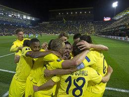Villarreal-Jubel im Madrigal im Spiel gegen Neapel