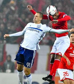 Markierte per Kopf den Ausgleich gegen Mainz: Anderlechts Teodorczyk.