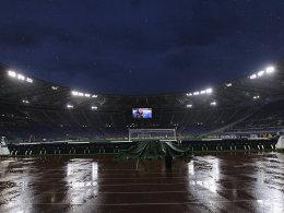 Bilder: Regen und Immobile-Tänzchen in Rom - RB zittert