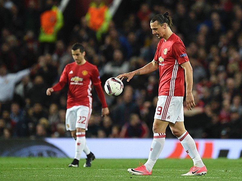 Musste verletzungsbedingt ausgewechselt werden: Manchester Uniteds Zlatan Ibrahimovic.