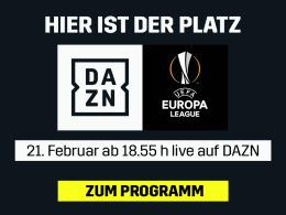 Mit SGE und Bayer: Die ganze Europa League live bei DAZN