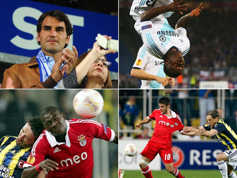 Die deutschen Teams mussten allesamt zuschauen, als sich Fenerbahce Istanbul, Benfica Lissabon, der FC Basel und Chelsea im Halbfinale der Europa League trafen.