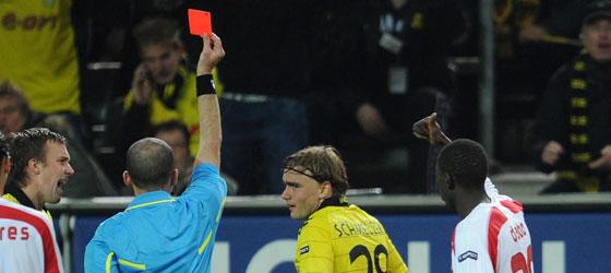 Marcel Schmelzer sieht Gelb-Rot