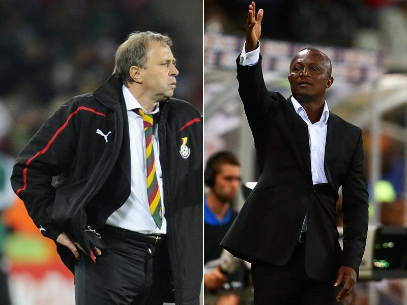 Milovan Rajevac (links) und James Kwesi Appiah