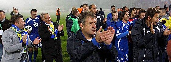 Vater des Erfolgs: Safet Susic (Mi.).