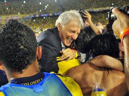 Gefeierter Übungsleiter: José Pekerman führte Kolumbien nach 16 Jahren wieder zu einer WM.