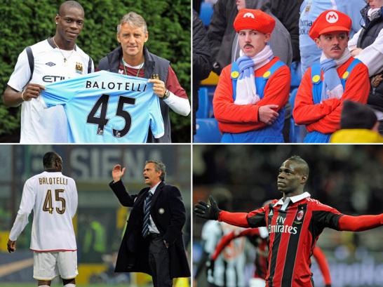 """Das """"Enfant Terrible"""" des AC Milan: Mario Balotelli."""