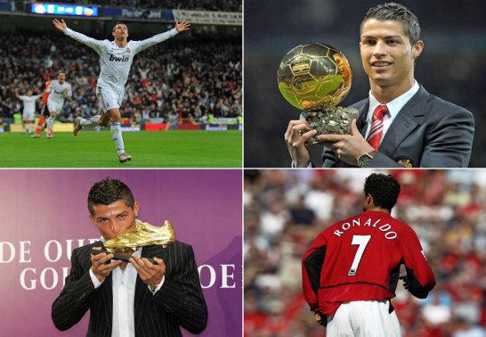 Er sammelt Rekord �ber Rekord: Ob bei Manchester United, Real Madrid, in der Champions League oder als Einzelspieler: Cristiano Ronaldo.