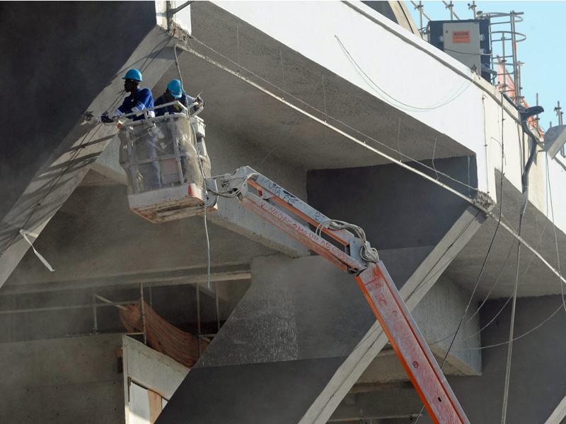 Bauarbeiten in Rio de Janeiro