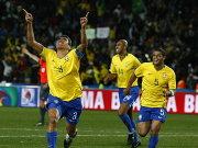 Ein packendes Finale hatte mit Brasilien (hier Siegtorschütze Lucio) einen knappen, aber verdienten Sieger.