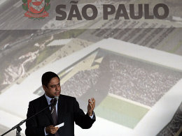 Plan das Stadions Itaquerao in Sao Paulo