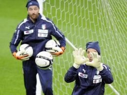 Gianluigi Buffon und Morgan de Sanctis