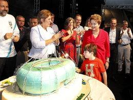 Stolzes Fortaleza: Präsidentin Dilma Rousseff zu Gast bei der Kick-off-Veranstaltung.