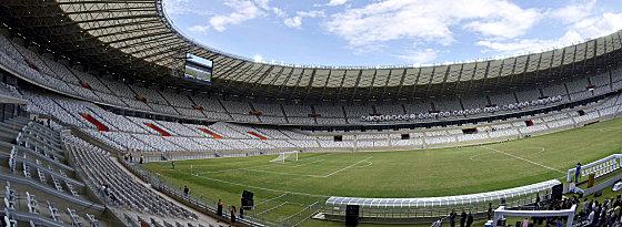 Über 62.000 Plätze, über 240 Millionen Euro: die Arena Mineirao in Belo Horizonte.
