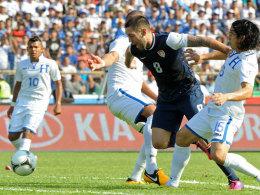 Clinton Dempsey markierte das 1:0 für die USA, doch am Ende siegte Honduras mit 2:1.