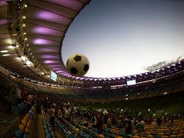 Weites Rund: Das modernisierte Maracana in Rio beim Spiel am Samstagabend.
