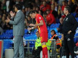 Chris Coleman und Gareth Bale