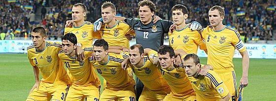Im letzten Heimspiel der WM-Qualifikation ohne Zuschauer: Die ukrainische Nationalmannschaft.