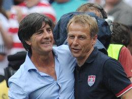 Gute Freunde kann niemand trennen: Joachim Löw und Jürgen Klinsmann.