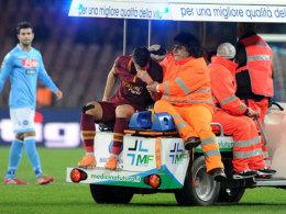 Verletzte sich gegen den SSC Neapel schwer am Knie: der niederländische Nationalspieler Kevin Strootman.