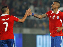 Alexis Sanchez und Arturo Vidal
