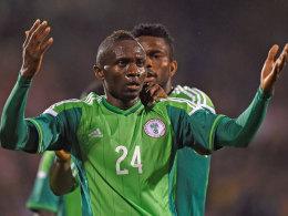 Torjubel in der Nachspielzeit: Uche Nwofor glich für Nigeria gegen Schottland zum 2:2 aus.