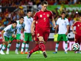 """Erzielte per Elfmeter die Führung für """"La Roja"""": Fernando Torres."""