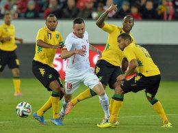 Rettete der Schweiz den Sieg gegen Jamaika: Der Neu-Leverkusener Josip Drmic.