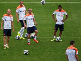 Niederlande beim Training