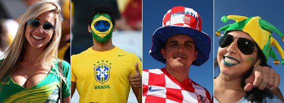 Fans in Sao Paulo