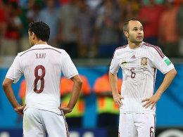 Xavi Hernandez und Andres Iniesta