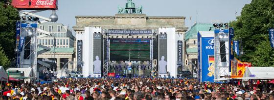 Die Fanmeile in Berlin