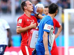 Ein Tritt beendete seine WM: Steve von Bergen.