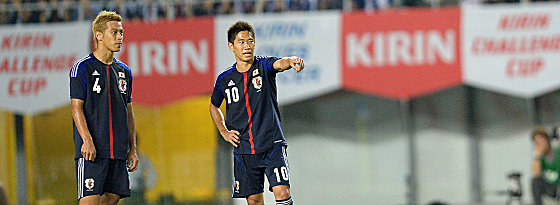 Keisuke Honda und Shinji Kagawa