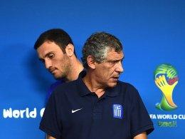 Vasilis Torosidis (links) und Trainer Fernando Santos