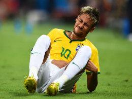Schmerzhaftes Viertelfinale: Neymar steht eine mehrwöchige Pause bevor.