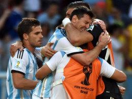 Auch bei Lionel Messi herrschte Erleichterung nach dem knappen Sieg gegen Belgien.