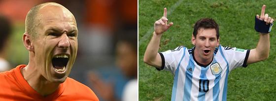 Arjen Robben & Lionel Messi
