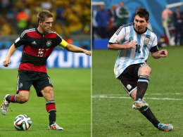 Philipp Lahm & Lionel Messi