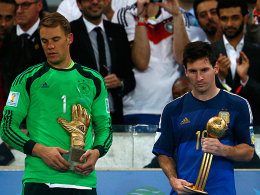 Bester Torwart und bester Spieler auf einem Fleck: Manuel Neuer (li.) und Lionel Messi.