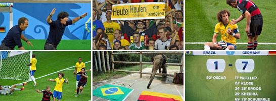 Halbfinale Brasilien vs. Deutschland