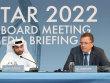 Hassan al-Thawadi, OK-Chef der WM 2022, und FIFA-Generalsekret�r Jerome Valcke (r.) am Mittwoch in Doha